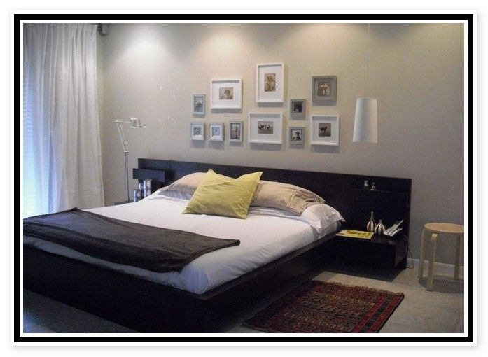 Ikea Platform Bed With Attached Nightstands Ikea Bedroom