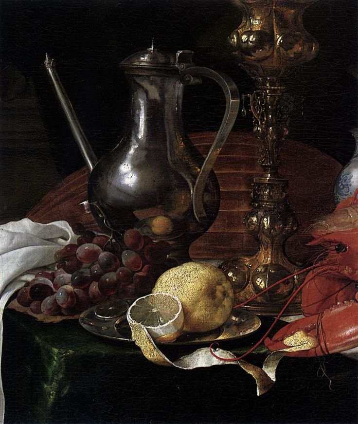 De Heem, Jan Davidsz (1606 - c 1683) - Still Life Of A Banqueting Scene [Detail] (c 1639)