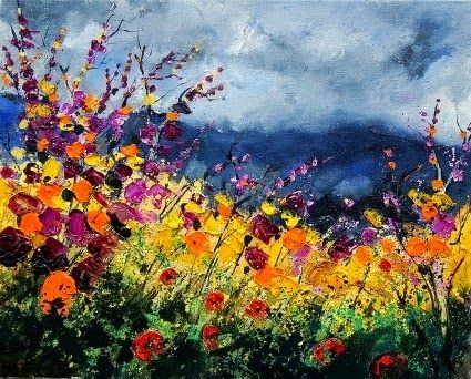 Flores Selvagens - Cores fortes e vibrantes nas pinturas de Pol Ledent