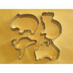 Small  Australiana set four - this page includes a bilby cookie cutter