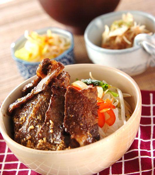 スタミナ満点 カルビ丼 の献立 レシピ 焼肉丼 レシピ レシピ