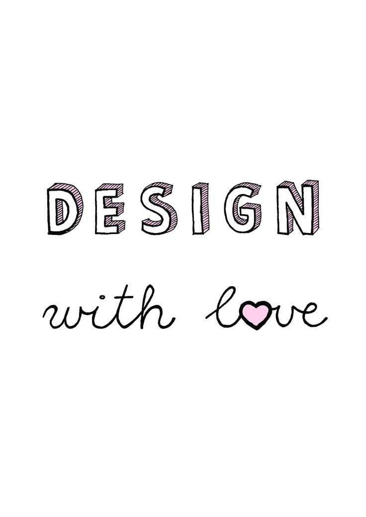 design with love. Minimal, pastel and typography