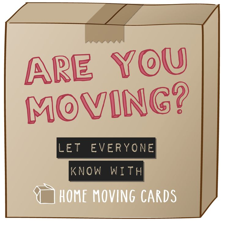 Let everyone know about your new home with www.homemovingcards.com