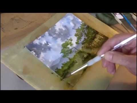 Watercolour Painting Landscape Demonstration - YouTube