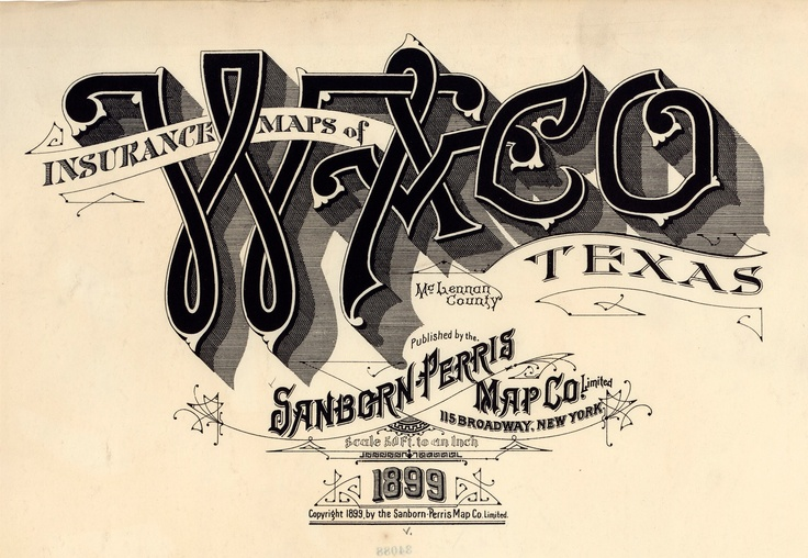 Sanborn map waco texas sanborn map title pages for Tattoo shops in waco tx