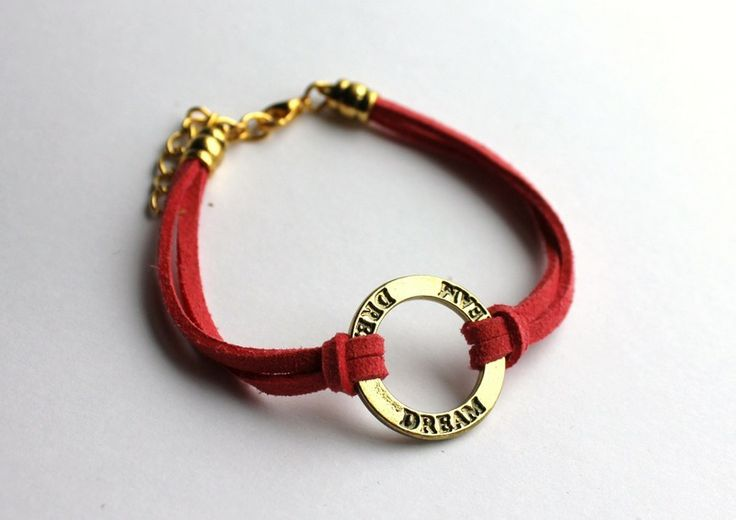 """Dream"" strap bracelet  from Especially for You by http://en.dawanda.com/shop/slicznieilirycznie"