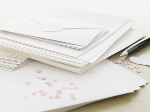 Wedding invitations Image by:  Marnie Burkhart/Corbis