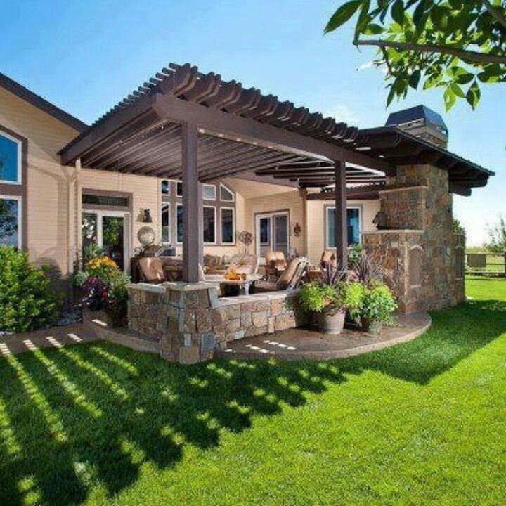 191 Best Covered Patios Images On Pinterest: Beautiful Back Patio