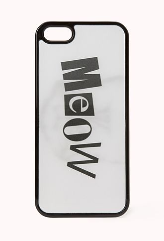 Cat Craze Hologram Phone Case | FOREVER21 - 1000110622