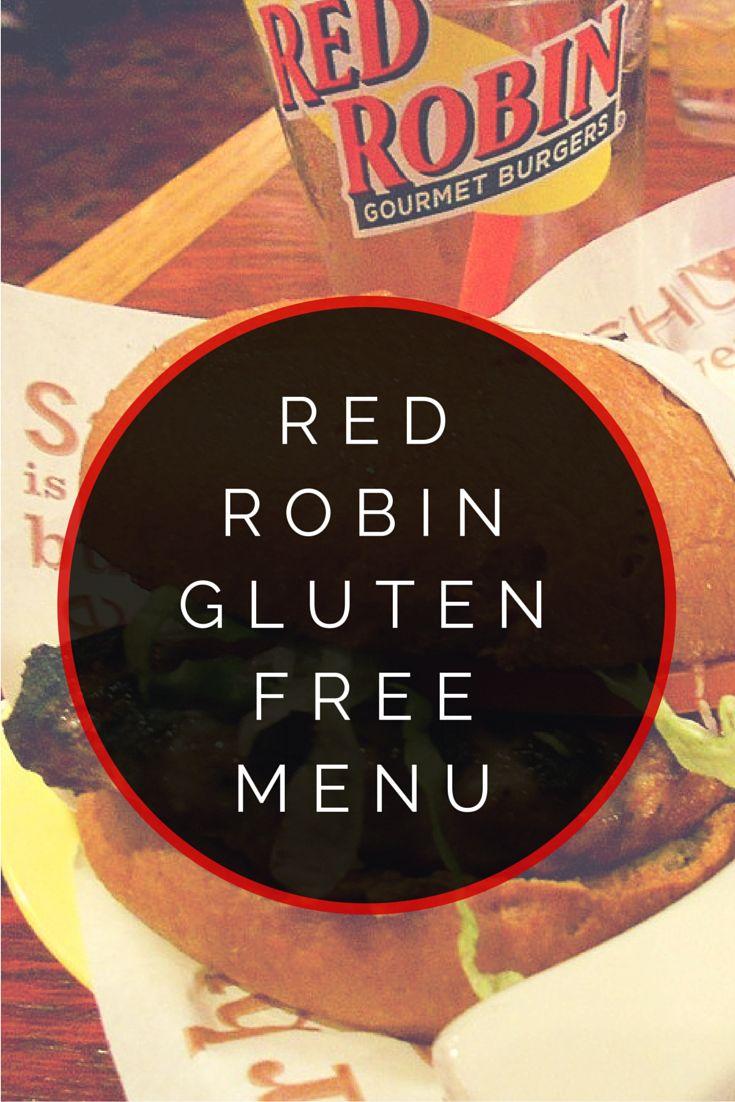 Red Robin Gluten Free Menu #glutenfree....they have a gluten free hamburger bun?? Woohoo!