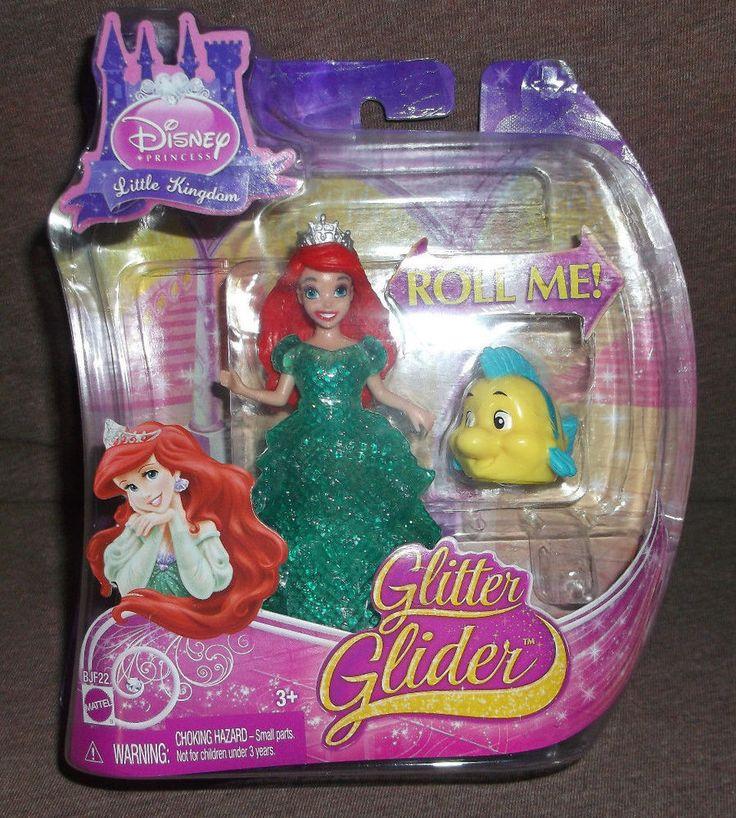 Disney Princess GLITTER GLIDER ARIEL Magiclip Doll NEW! #Mattel