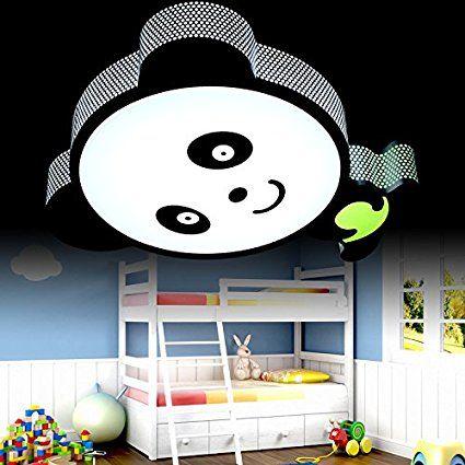 New Kinderzimmer Motto Panda Cartoon LED Deckenleuchten Panda kreative Cartoon Kinder Schlafzimmer lampen led