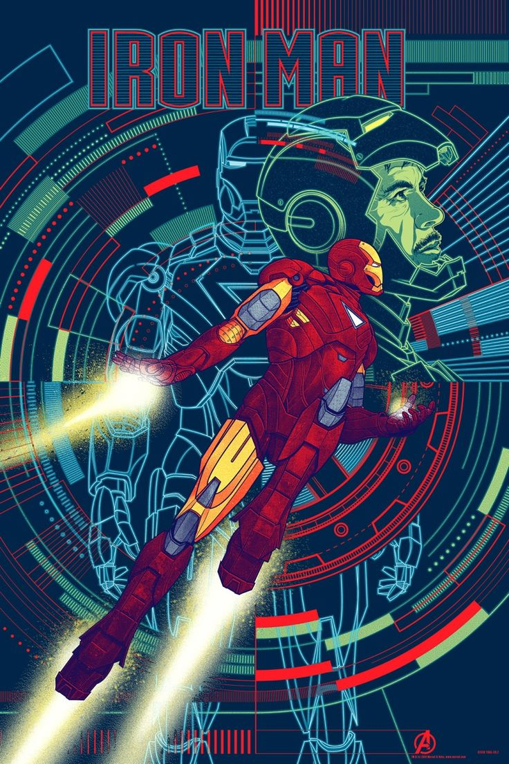 THE AVENGERS Mondo Poster: Iron Man: Movie Posters, Kevin Tong, Comic Books, Art Prints, Super Heroes, Irons Men, Men Art, The Avengers, Superhero