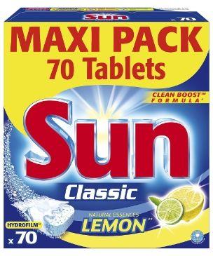 Sun Konetiskitabletti Classic Lemon 70 kpl - 5,90 € Tai muu konetiskitabletti.