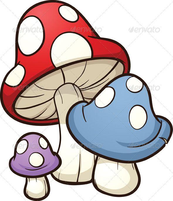 Cartoon Mushrooms  #GraphicRiver