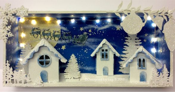 Box scene decorated by Lisa B. Tando Creative annd Imagination Crafts' products.