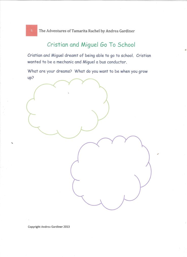 Crisitan and Miguel go to school activity sheet