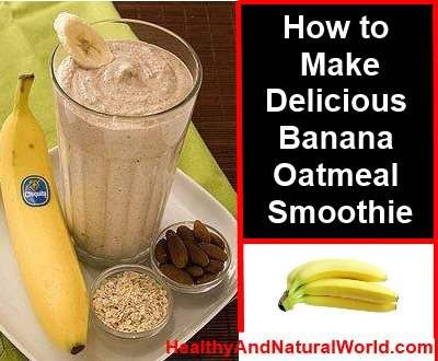 Delicious banana oatmeal smoothie