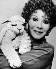 Shari Lewis and Lamb Chop  http://en.wikipedia.org/wiki/Shari_Lewis   VIDEO http://www.youtube.com/watch?v=4mRY-kCRUxI
