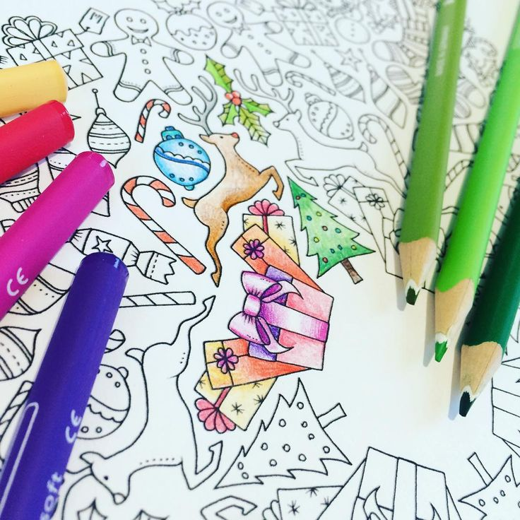 Johanna Basford A Mini Christmas Coloring Book That Allows Us To Her Gorgeous Holiday Illustrations But Also Feed Hungry Children Marys Meals