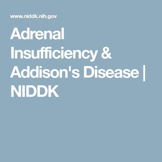 Adrenal Insufficiency & Addison's Disease | NIDDK