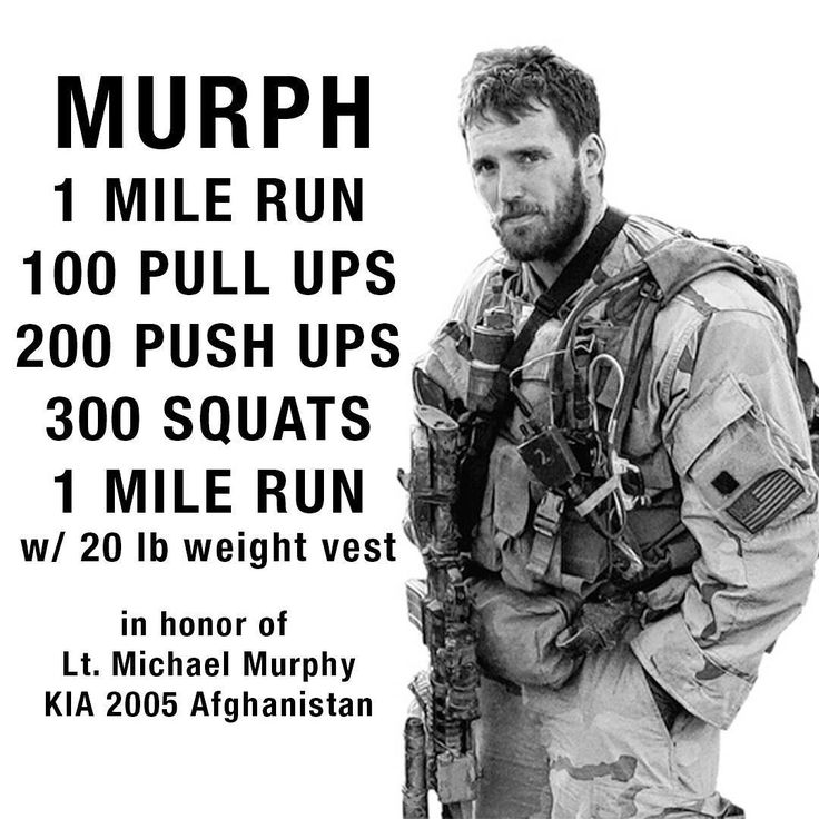 In honor of a true hero, Lt. Michael Murphy. Good luck to all participating in the Memorial Day Murph Challenge! #murph2016 #wod #memorialday2016 #murphchallenge