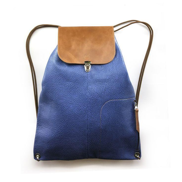 Image of LIBERTY   kék bőr hátitáska