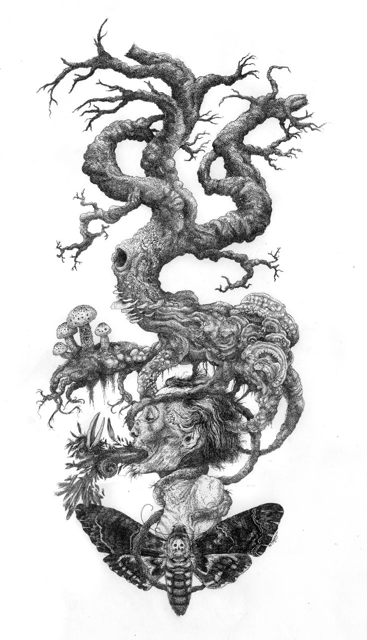 The Tree of Death (pen & ink)