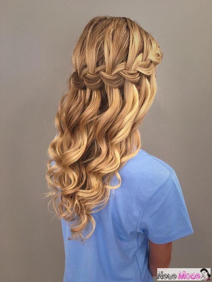 Halboffene Frisur Neue Halboffene Frisuren 2019 Abiball Frisuren Halboffen Brau Cute Hairstyles For Short Hair Braided Prom Hair Waterfall Braid Hairstyle