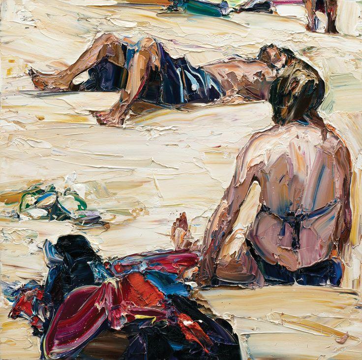 NICHOLAS HARDING BEACH LIFE (THONGS, FIGURES AND LEGS)