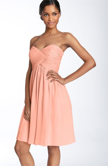 peach bridesmaid dress?