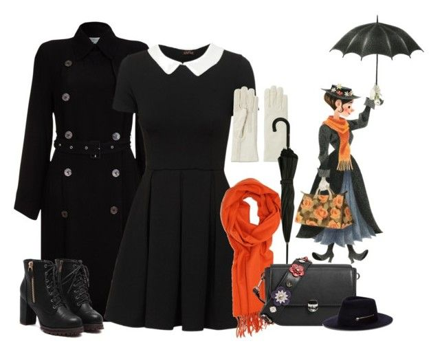 """""""Inspired Disney Mary Poppins ( Contest)"""" by arrowette-854 ❤ liked on Polyvore featuring Ghost, Isotoner, MANGO, Jean-Paul Gaultier and Larose"""