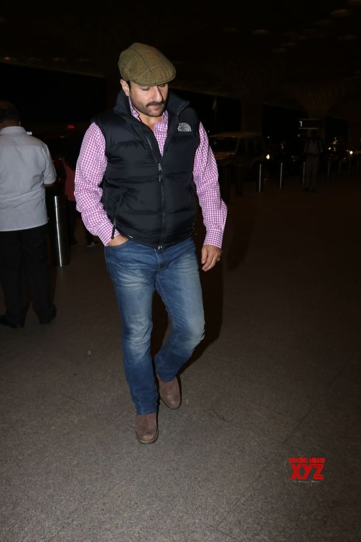 Mumbai: Saif Ali Khan seen at airport - Social News XYZ