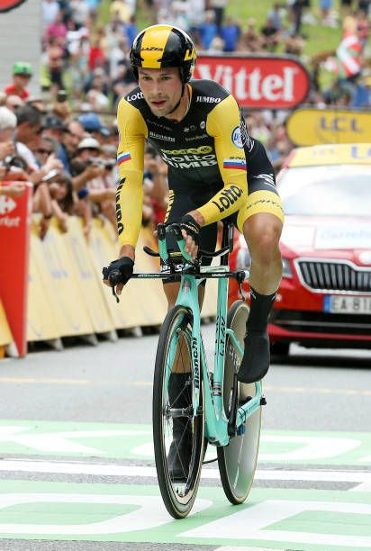 Primoz Roglic of Slovenia and Team Lotto NL Jumbo finishing stage 20 of Le  Tour de France 2018 an individual time trial of 31 km between. 77acda874