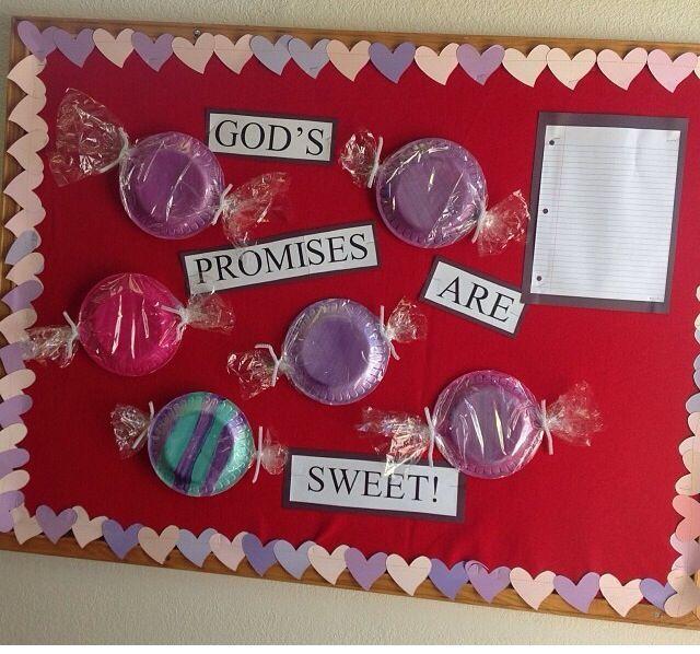 Valentines day Sunday school board