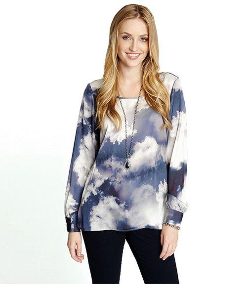 Karen Kane Cloud Print Blouse
