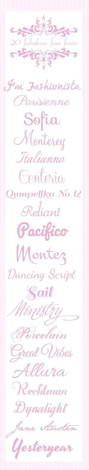 Free Fonts by alicia