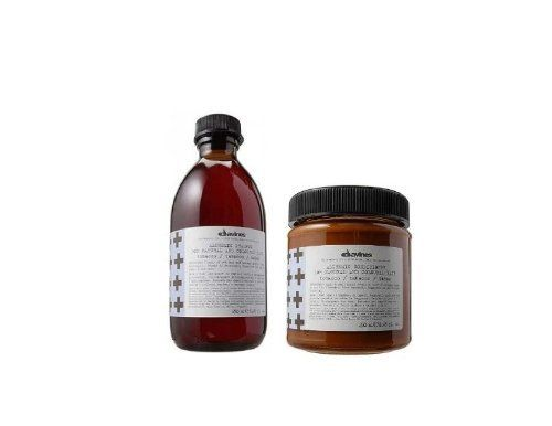 Davines Alchemic Tobacco 8.45 oz. Shampoo + 8.45 oz. Conditioner (Combo Deal) by Davines. $29.95. Davines Alchemic Tobacco 8.45 oz. Shampoo + 8.45 oz. Conditioner (Combo Deal). Shampoo and Conditioner combo helps to revitalize and moisturize your hair.. A complete system of hair care especially designed to help hair look and feel thicker and healthier. Tobacco For Brown Or Light Brown Hair. Davines blended distilled, pure colour pigments with moisturizing and protectiv...