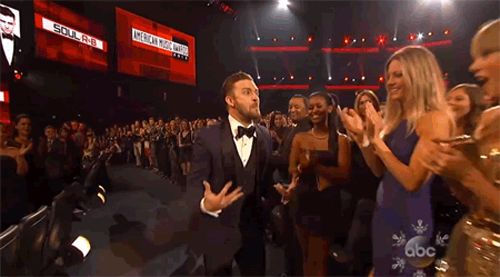 Justin Timberlake Does Taylor Swift's Surprised Face To Taylor Swift's Face