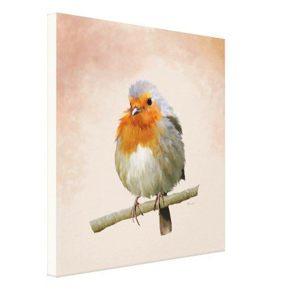 "Cock-Robin (24""x14"") Canvas Print - diy cyo personalize design idea new special custom"