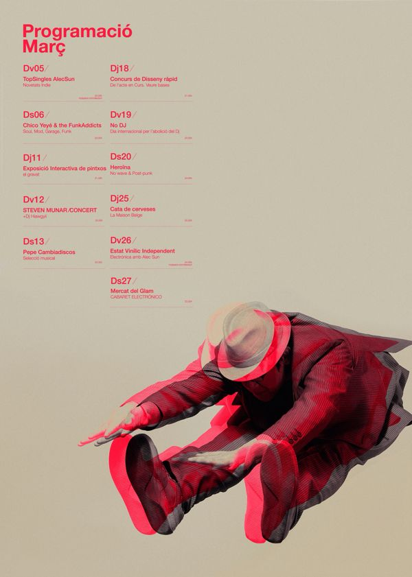 #graphicdesign : Gravat Poster by Quim Marin via @Baltic Lapse #poster #typo