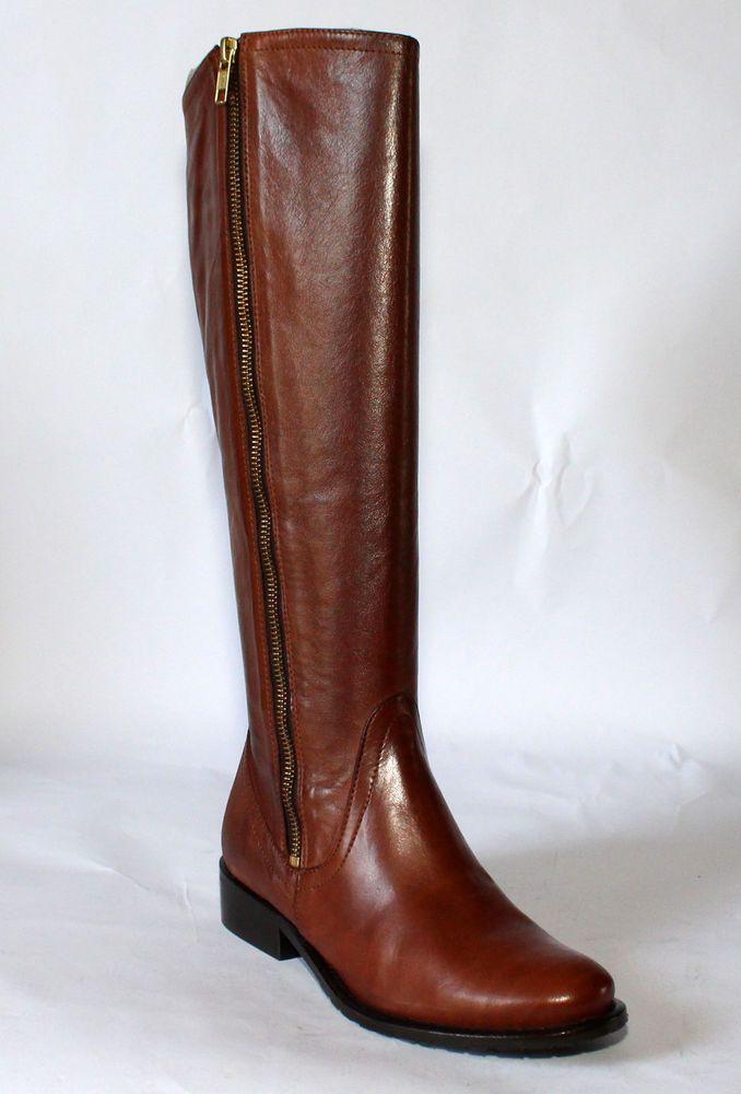 Bottes cuir tous mollets chaussures mode femme marron p 36 neuves