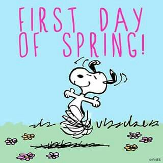 Image result for Snoopy first day of spring