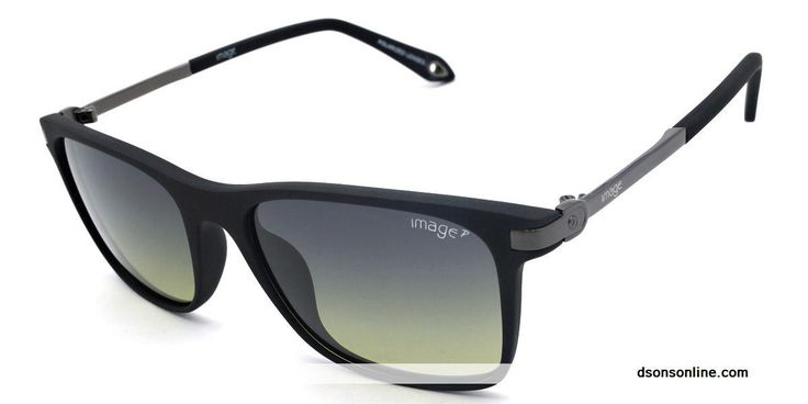 Buy Image Black And Green Polarized Men Rectangle Sunglasses S562 C3 Online in India