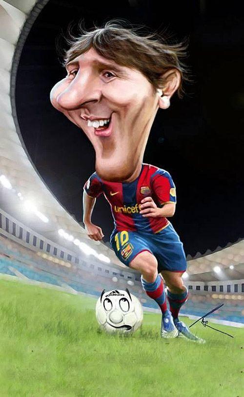 Caricatura de Messi.  ~ Ʀεƥɪииεð вƴ╭•⊰✿ © Ʀσxʌиʌ Ƭʌиʌ ✿⊱•╮