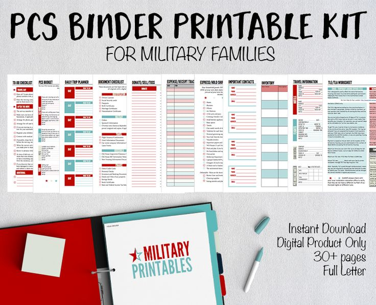 Military Moves: The Ultimate PCS Binder Guide with Free Printables