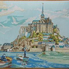 Tableau de sable: le mont saint michel http://www.alittlemarket.com/boutique/celined-38515.html