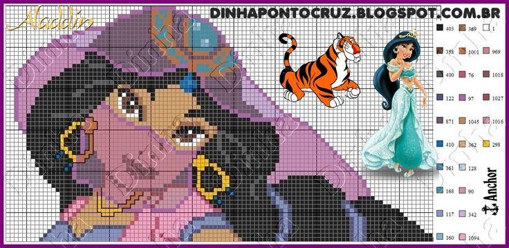 Jasmine Aladdin pattern - Dinha Ponto Cruz