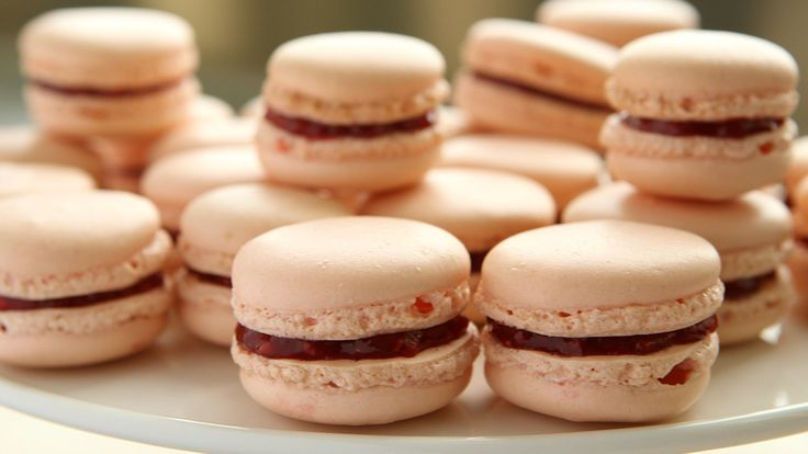 Watch Martha Stewart's French Rose-Raspberry Macarons Video. Get more step-by-step instructions and how to's from Martha Stewart.