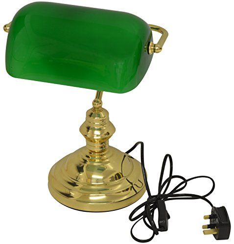 Hausen 60W Classic Bankers Desk Lamp Polished Brass with Green Glass Swivel Head Hausen http://www.amazon.co.uk/dp/B00G5DEIW2/ref=cm_sw_r_pi_dp_-xY3wb0NFNST0